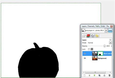 gimp tutorial layer mask gimp show mask layer black transparency techie beginners