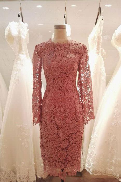 elegant long sleeves coral knee length mother   bride