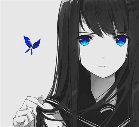 anime girl with black hair and blue eyes kyo00d image 4462743 by olga b on favim com