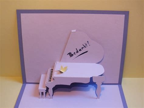Piano Keyboard Pop Up Card Template by Piano Pop Up Card 183 How To Make A Pop Up Card 183 Papercraft