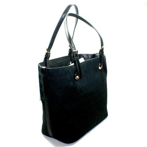 New Bag Mk Set michael kors jet set mk signature jacquard grab bag black