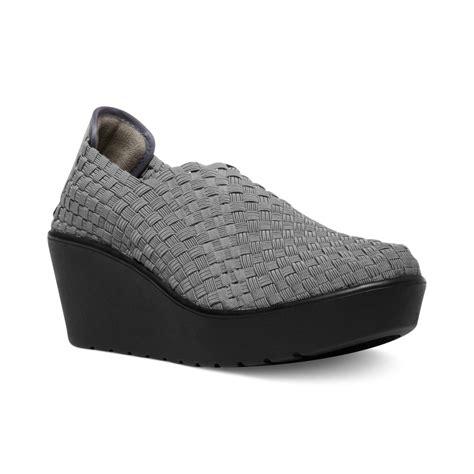 grey wedge sneakers steven by steve madden betsi wedge sneakers in gray grey