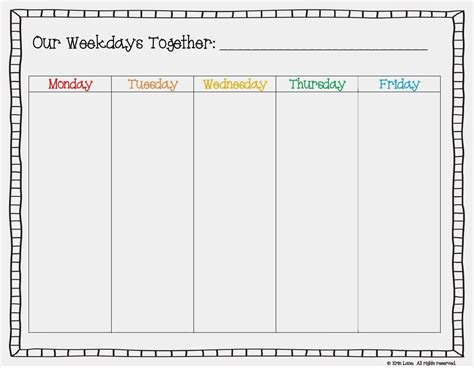 printable calendar you can add text free printable weekday only calendar google search