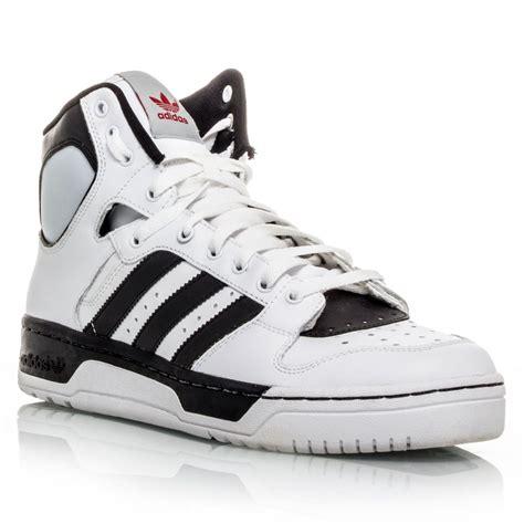 adidas originals conductor hi mens basketball shoes white black sportitude