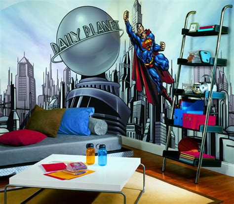 superman cityscape yhm wall mural