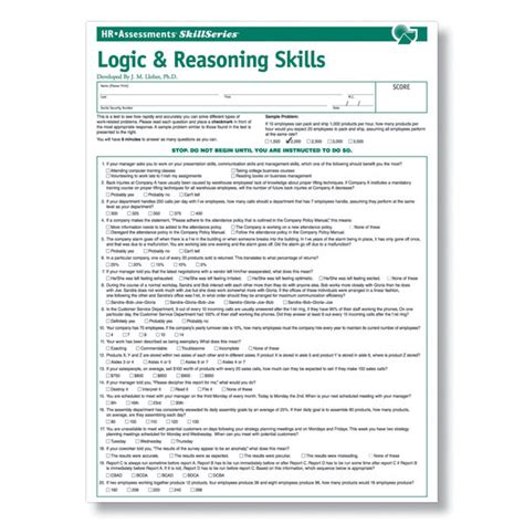 ford motorpany pre employment test logic reasoning test