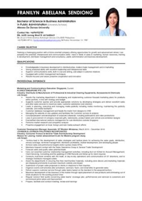 sle of curriculum vitae for business administration graduate 1000 images about sle resumes on sle