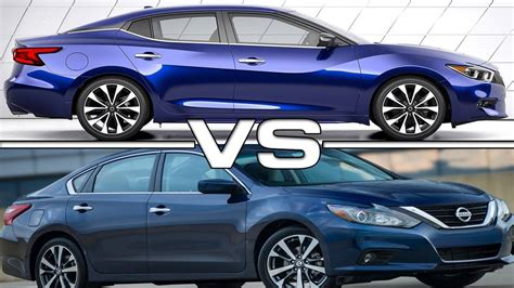 Maxima Vs Altima 2016 by 2016 Nissan Maxima Vs 2016 Nissan Altima