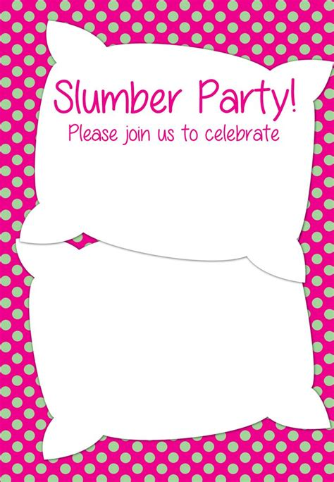 Free Printable Slumber Party Invitation Party Ideas Pinterest Islands Free Printable Free Printable Slumber Invitations Templates