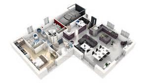 plan de moderne en 3d maison moderne