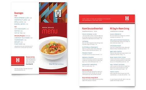 hotel menu card template free restaurant menu templates indesign illustrator
