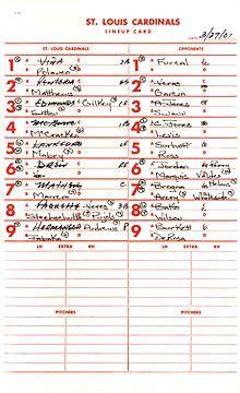 major league baseball lineup card template batting order baseball