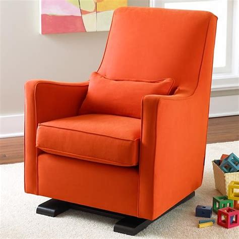 land of nod ottoman orange luca glider and ottoman contemporary rocking