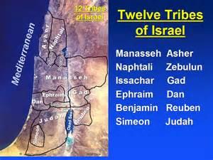 Map 12 tribes of israel benjamin and judah became judah at