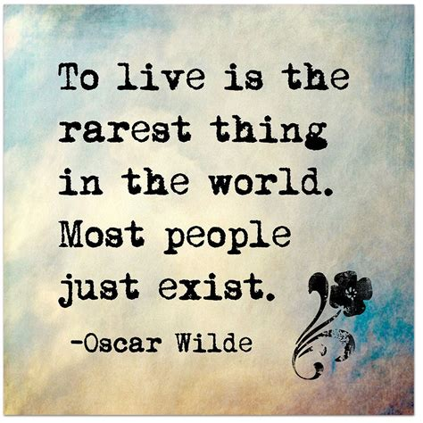 printable literary quotes to live is the rarest thing in the world oscar wilde