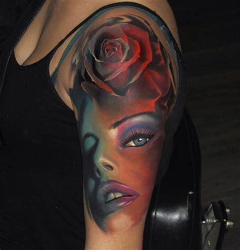 female face tattoo amazing best design ideas
