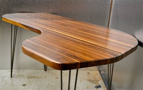 mid century l shaped desk desk solid black walnut l shape mid century modern by