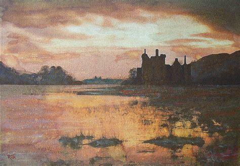 Skyline Home Decor kilchurn castle scotland painting by richard james digance