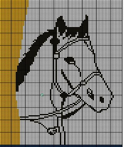 Grille Tricot Cheval by Tricot Crochet Mercerie Et