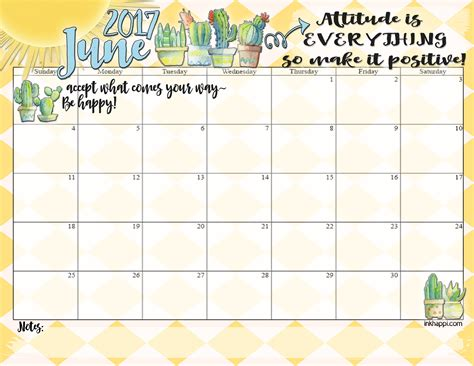 Calendar Of June June 2017 Calendar Is Here With A Bit Of Quot Attitude