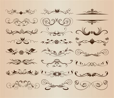ornament design elements vector set vintage ornament decorative design elements vector set 2