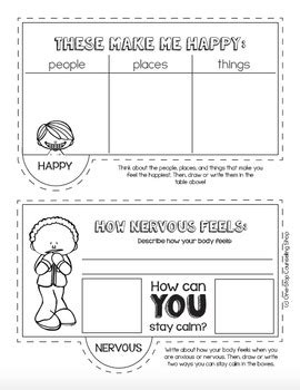 Feelings & Emotions Tab Book by One-Stop Counseling Shop   TpT