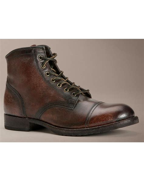 frye mens boot frye s logan cap toe lace up boot 80156 dbn ebay