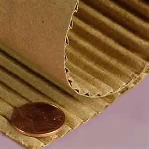 Heavy duty quot b quot flute corrugated paper rolls