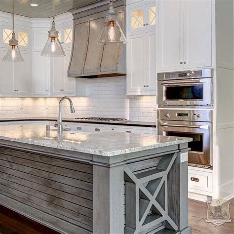 barn wood kitchen island for the house pinterest island home kitchen dining pinterest coastal