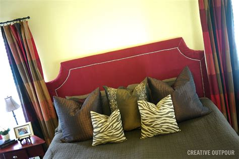 make your own fabric headboard creative outpour