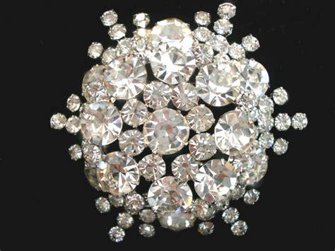 vintage juliana costume jewelry clear rhinestone brooch