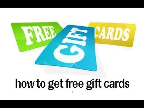 Get Gift Cards Online - how to get free gift cards youtube
