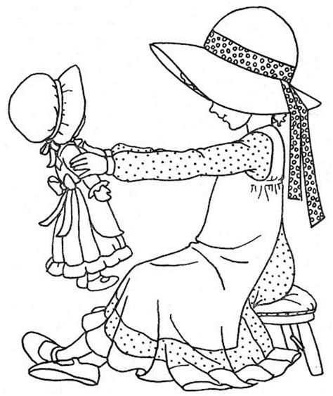 holly hobbie coloring page crafty cardmaking pinterest