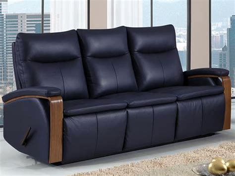 blue leather reclining sofa global blue leather dual reclining sofa bailey s furniture