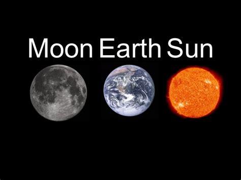 Earth Moon And Sun moon earth sun