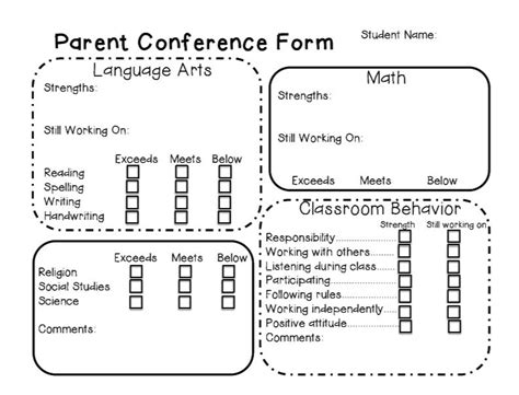 parent conference form template parent conference form need to modify but it s