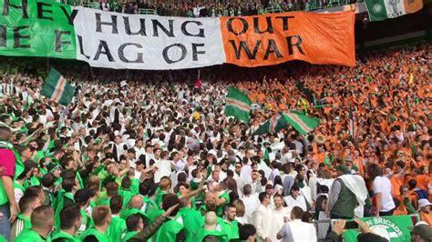 Section V Org by Green Brigade Display Celtic Vs Rangers Celtic Fans