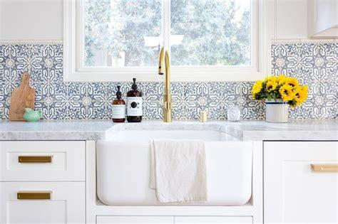 Blue Mosaic Kitchen Wall Tiles   Transitional   Kitchen