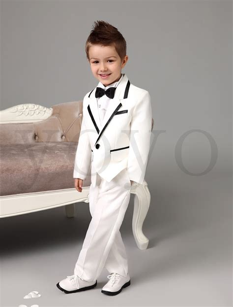 white tuxedo suit for a 1 year old boys dress clothes for wedding wedding ideas