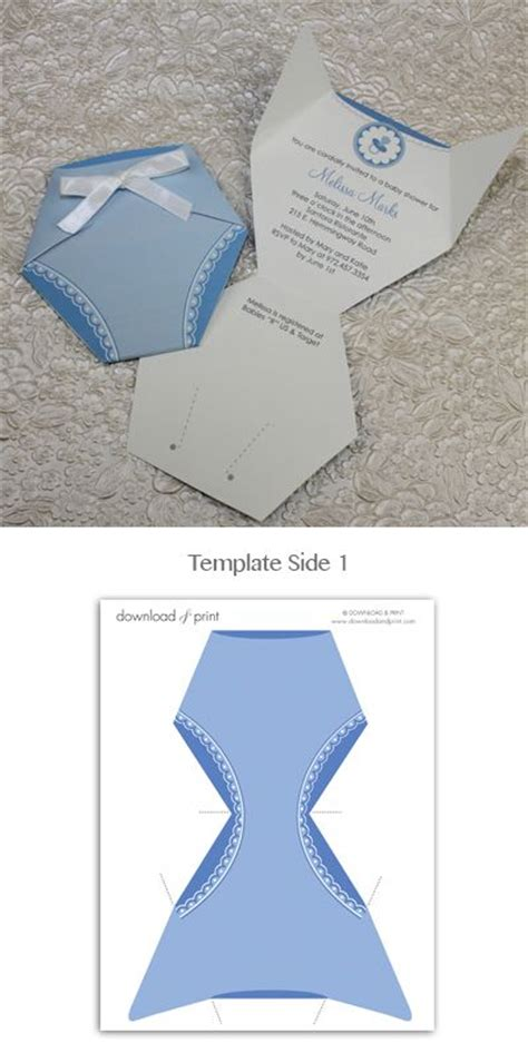 diaper template for baby shower favors diaper babies diaper baby showers and boys on pinterest