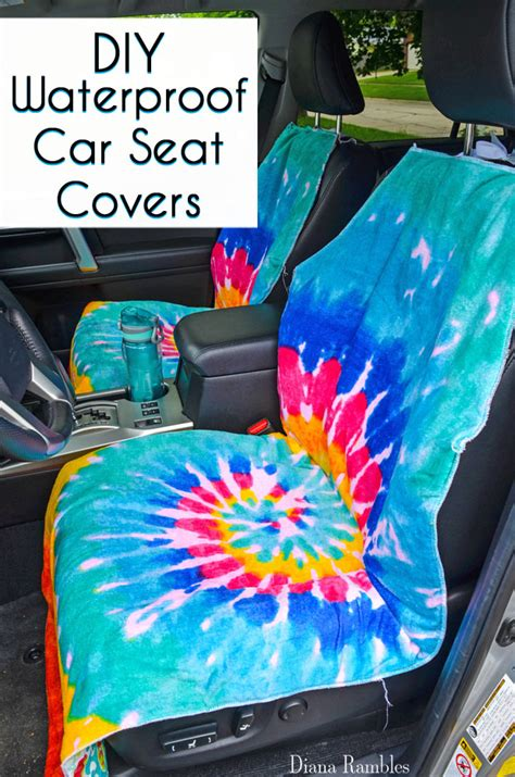diy car seat cover diy waterproof seat cover sewing tutorial