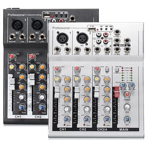 Mixer Audio 4 Ch 4 channel professional live mixing studio audio sound usb