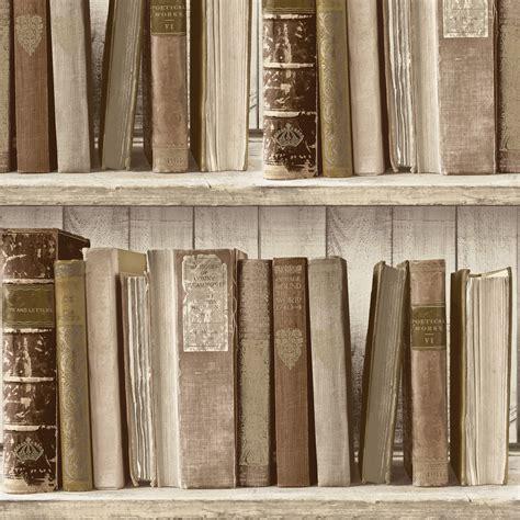 Colours Brown Bookcase Wallpaper   Departments   DIY at B&Q
