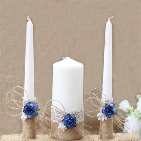 Wedding Ceremony With Unity Candle by Wedding Unity Candle Set Rustic Wedding Unity Candles