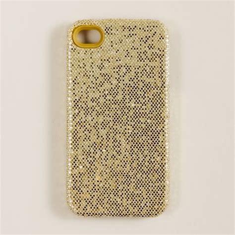 j crew glitter iphone in gold metallic gold glitter lyst