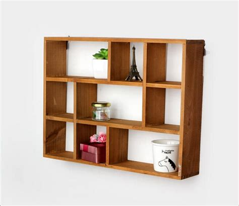 aliexpress buy hollow wooden wall shelf storage