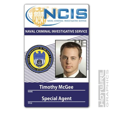 Ncis Id Card Template by Plastic Id Card Tv Prop Timothy Mcgee