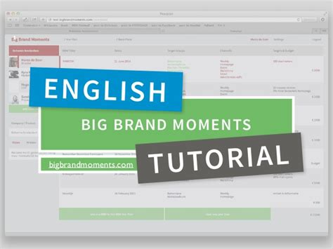 English Tutorial Online Video | how to big brand moments year plan english tutorial