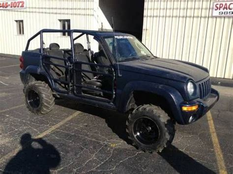 custom convertible jeep purchase used 2002 jeep liberty custom convertible lifted
