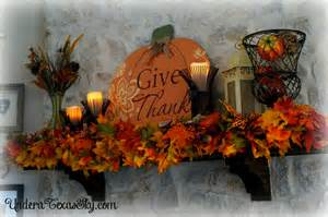 fall mantel decor 2016 a sky